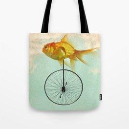unicycle goldfish Tote Bag