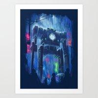 robot Art Prints featuring Impressionist Robot by Dan Burgess