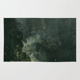 James Abbott McNeill Whistler Nocturne In Black And Gold Rug