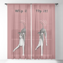 Whip it! (Blush Red) Sheer Curtain