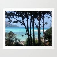 Paradise behind the trees Art Print