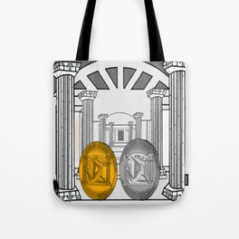 Necropolis Coins Gold and Silver 1 Tote Bag