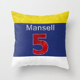Mansell Red 5 Throw Pillow