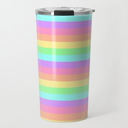 Pastel Rainbow Stripes Travel Mug
