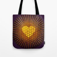 eternal sunshine Tote Bags featuring eternal love  by miche