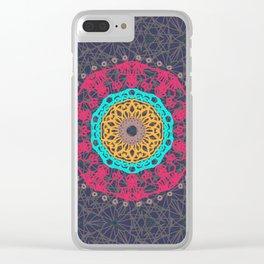 Bohemian Tangle Mandala   Zendala Clear iPhone Case