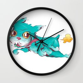 Bull dog crazy and farter Wall Clock