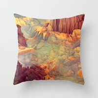 Throw Pillows featuring Nonsense Island [Warm Version] by Timothy J. Reynolds