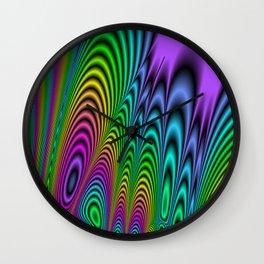 Fractal Op Art 3 Wall Clock