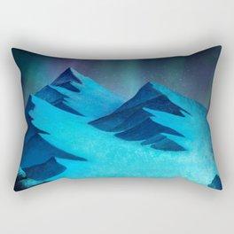 Aurora Borealis In The Mountain Pass Rectangular Pillow