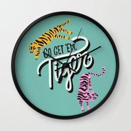 Go Get 'Em Tiger – Mint Palette Wall Clock