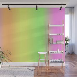 Spring - Pastel - Easter Greens Blues Yellow, Orange and Purple stripes Gradient Wall Mural