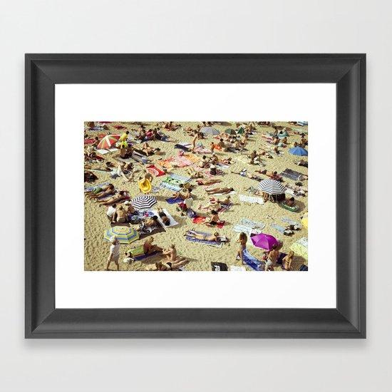 Beach pattern Framed Art Print