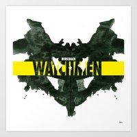 watchmen Art Prints featuring Watchmen 2.0 - Rorschach by Fabio Castro
