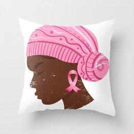Women Fighter Of Cancer Throw Pillow