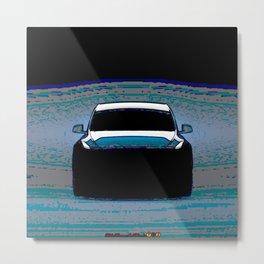 Society6 Online Car Prints - Electric Vibes Cool Sketch Kid's Art Decorations 770k Metal Print