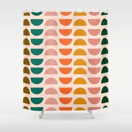 Retro 70s Geometrics Shower Curtain