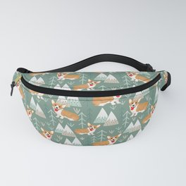 Corgis in the mountains Fanny Pack