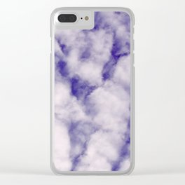 FLUFFY CLOUDS - BLUE SKY Clear iPhone Case