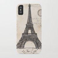 eiffel tower iPhone & iPod Cases featuring Eiffel Tower by Debbie DeWitt