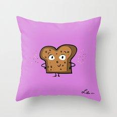 Cinnamon Raisin Toast Throw Pillow