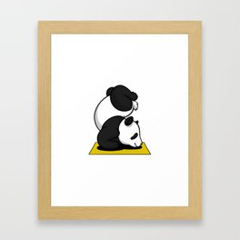 Cute Panda Bear Yoga Animal Framed Art Print