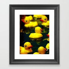 Pick a Duck Framed Art Print