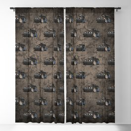 Classic '70s American Muscle Car Cartoon Blackout Curtain