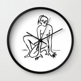 Nudeart sketch5 Wall Clock