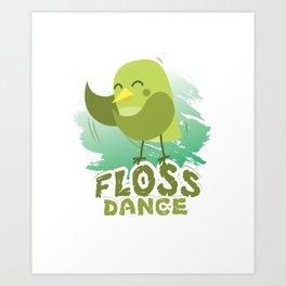 Floss Dance Move Bird Art Print