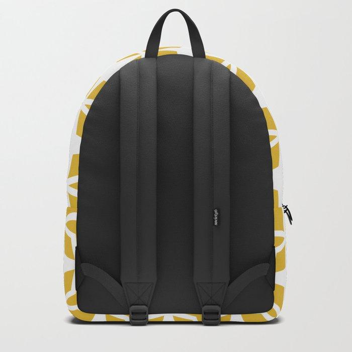 Mid Century Modern Star Pattern Mustard Yellow 551 Backpack