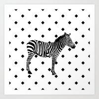 ZebraLove Art Print