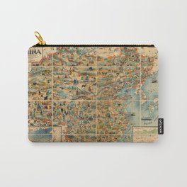 Pictorial Map of China - 1931 Carry-All Pouch