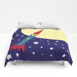 Rocket To The Moon Comforters
