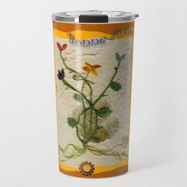 Carte de vœux en dentelle aux fuseaux Travel Mug