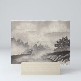 Adirondacks in the Mist Mini Art Print