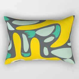 Yellow Cool Monsters for Kids Abstract Art Pattern DecorationCool Monsters for Kids Abstract Art Pattern Decoration Rectangular Pillow