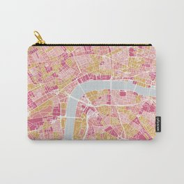 Colorful London map Carry-All Pouch
