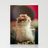 hamster Stationery Cards featuring Hungry Hamster by EmilyBest