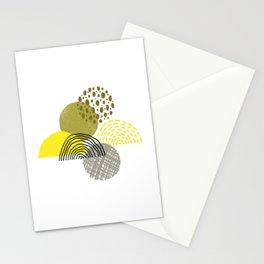 Yellow circles abstract illustration Stationery Cards