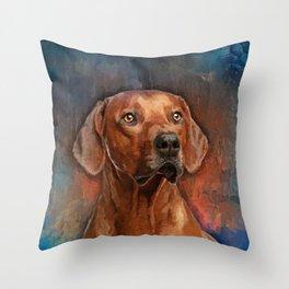 Rhodesian Ridgeback Portrait Throw Pillow