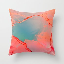 BETTER TOGETHER - LIVING CORAL by MS Throw Pillow