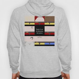 Maybe it's not the Destination that matters - square - Star Trek: Voyager VOY  trektangle minimalist Hoody