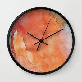 Wynonna (Abstract Gouache Painting) Wall Clock