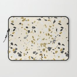Glitter and Grit Yellow Gold Marble Laptop Sleeve
