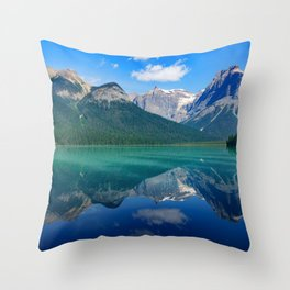 Landscape Panorama (Mountains & Water) Throw Pillow