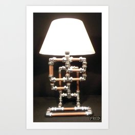 Articulated Desk Lamps - Copper and Chrome Collection - FredPereiraStudios_Page_07 Art Print