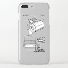 patent art Allen Toilet paper holder 1933 Clear iPhone Case