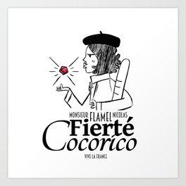 Fierté Cocorico Art Print