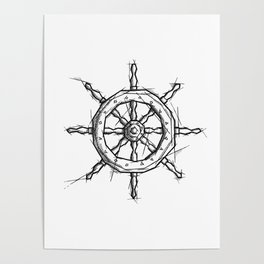 Rudder Handmade Drawing, Art Sketch, Timone, Illustration Poster